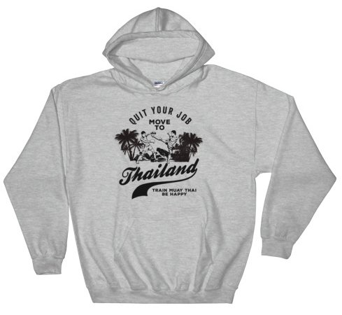 move to thailand hoodie grey